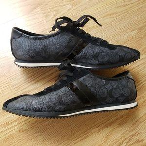 Coach Shoes - 🌿Black Coach-ivy Signature Sneakers Size 9🌿